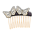 glamour butterfly golden comb illustration